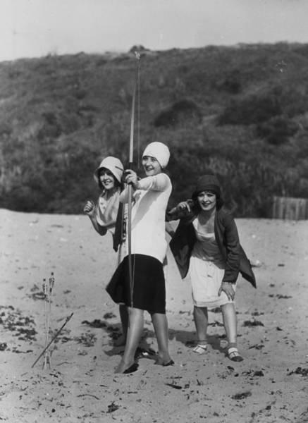 Flapper Photograph - Archery On The Beach by Sasha