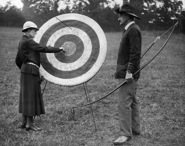 Pulling Photograph - Archery Practice by A R Tanner