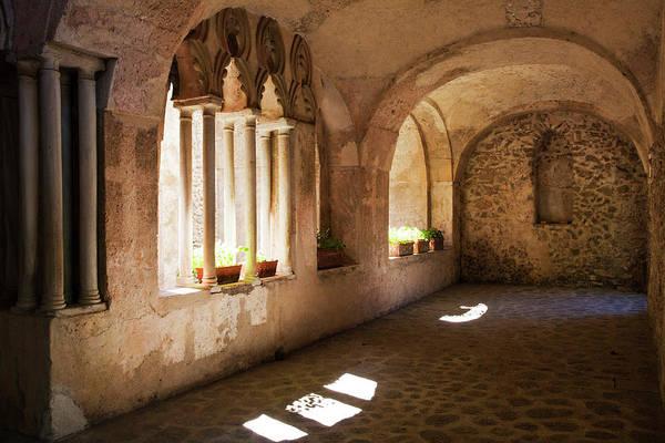 Villa Photograph - Arches And Hallway Of Villa Rufolo by Danita Delimont