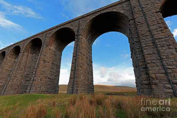 Taper Photograph - Arches And Piers Of The Ribblehead Viaduct North Yorkshire by Louise Heusinkveld