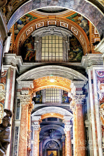 Photograph - Arches At Saint Peter's Basilica In Vatican City by John Rizzuto