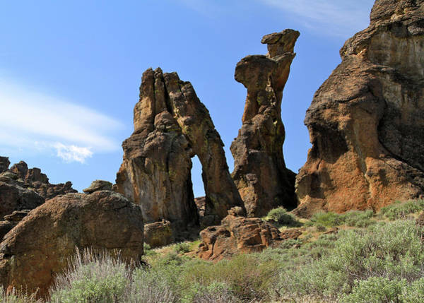 Photograph - Arches Hoodoos Castles by Ed  Riche