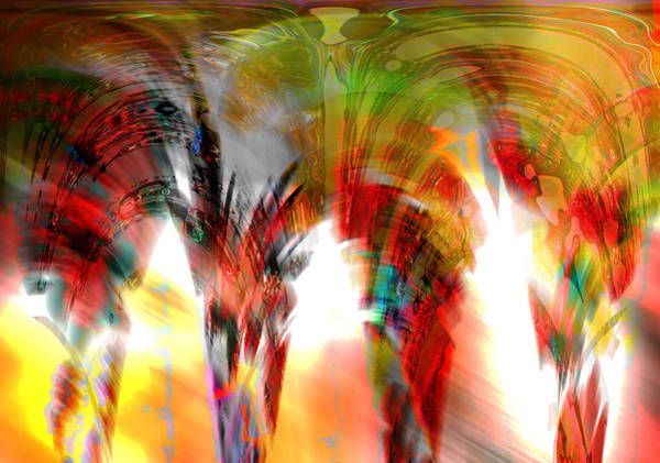Digital Art - Arches by Maria Reverberi