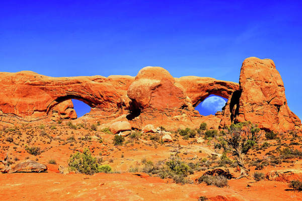 Art Print featuring the photograph Arches Moon Eye by Greg Norrell