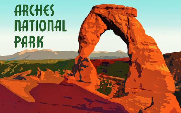 Digital Art - Arches National Park by Chuck Mountain