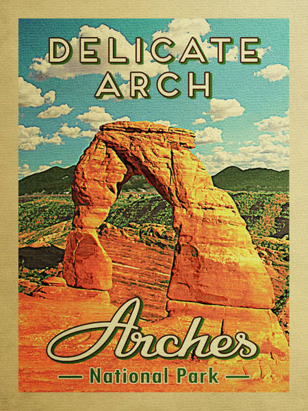 Utah Digital Art - Arches National Park Delicate Arch by Flo Karp