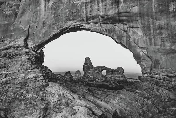 Photograph - Arches National Park Monochrome Landscape by Gregory Ballos