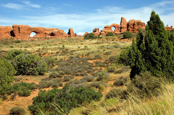 Natural Arch Photograph - Arches National Park, North Window And by Premium Uig