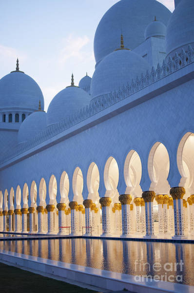 Arches Of Grand Mosque Of Abu Dhabi Art Print