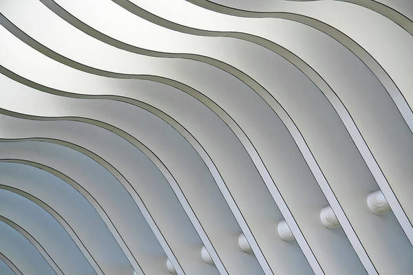 Steel Beams Wall Art - Photograph - Architectural Abstract 1 - Interior Of by Lubilub
