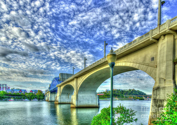 Photograph - Architectural Arches Chief John Ross Bridge Spanning The Tennessee River Art by Reid Callaway