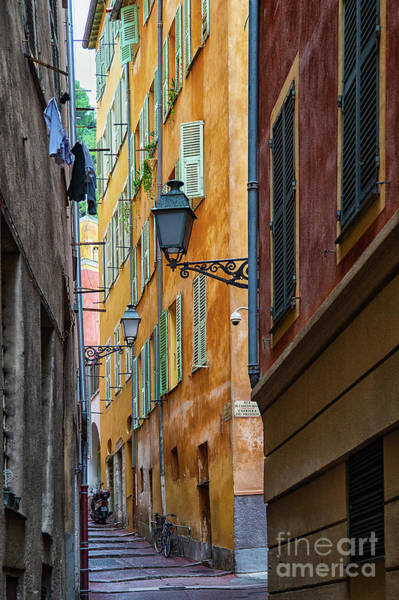 Wall Art - Photograph - Architectural Charm Of Vieux Nice Old Nice France  by Wayne Moran
