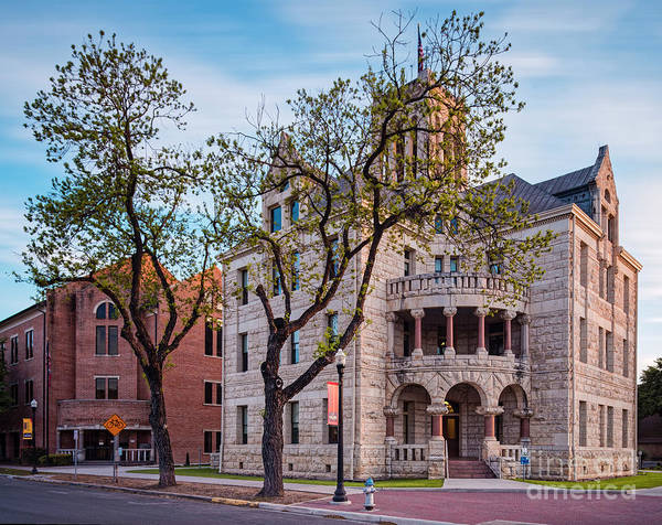 New Braunfels Photograph - Architectural Photograph Of The Comal County Courthouse In Downtown New Braunfels Texas Hill Country by Silvio Ligutti