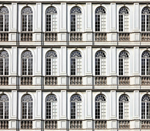 Stone Carving Wall Art - Photograph - Architecture And Windows Of Ancient by Protasov An
