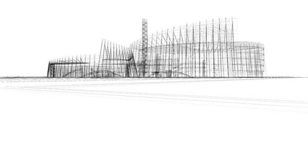 Housing Project Photograph - Architecture Blueprint by Hh5800