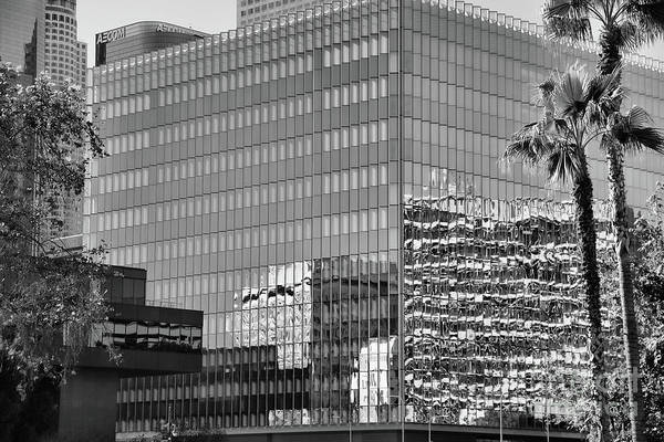 Wall Art - Photograph - Architecture Downtown Los Angeles Bw by Chuck Kuhn
