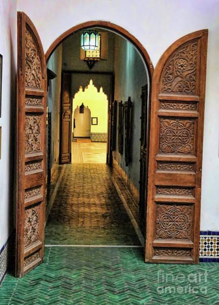 Moroccan Digital Art - Architecture Moroccan Art  Doors  by Chuck Kuhn