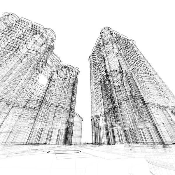 Housing Project Photograph - Architecture Sketch by Teekid