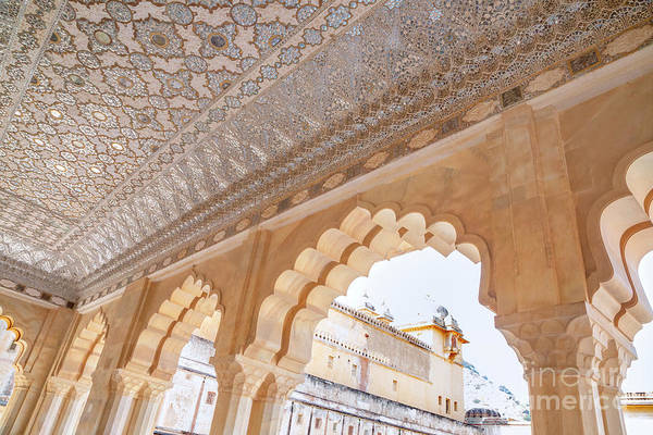 Wall Art - Photograph - Archway Inside Sheesh Mahal In Jaipur, India by Julia Hiebaum