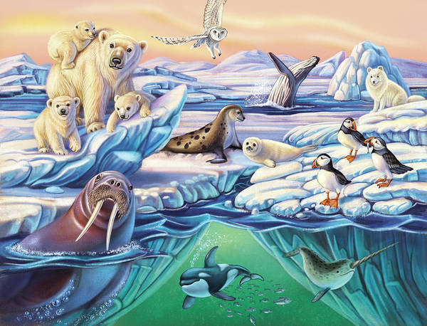 Mixed Media - Arctic Animals by Anne Wertheim
