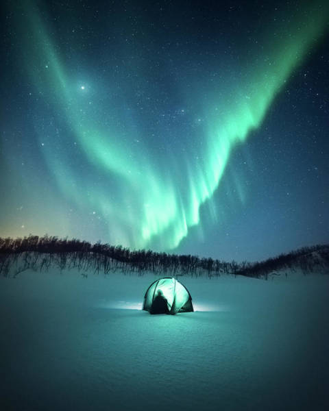 Light Blue Photograph - Arctic Camping by Tor-Ivar Naess
