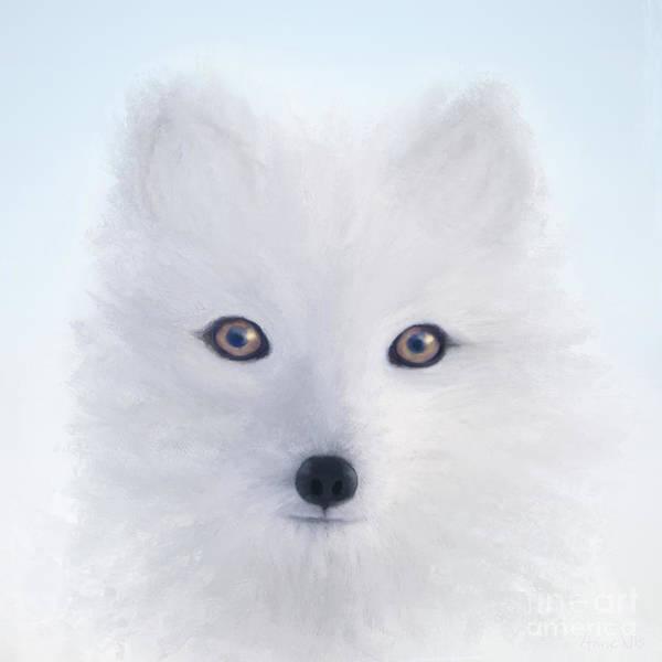 Digital Art - Arctic Fox by Anne Vis