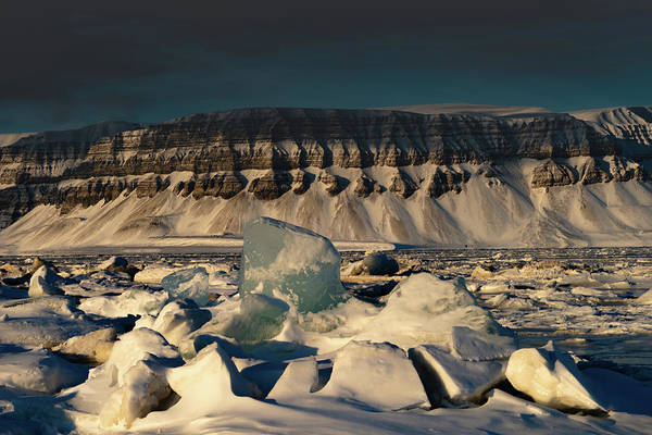 Photograph - Arctic Ice At Svalbard by Kai Mueller