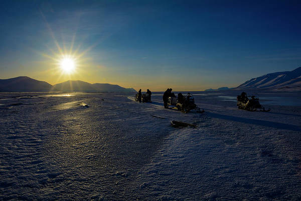 Photograph - Arctic Snowmobile Expedition by Kai Mueller