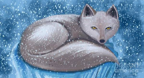 Frozen Tundra Digital Art - Arctic Survivor  by Nick Gustafson