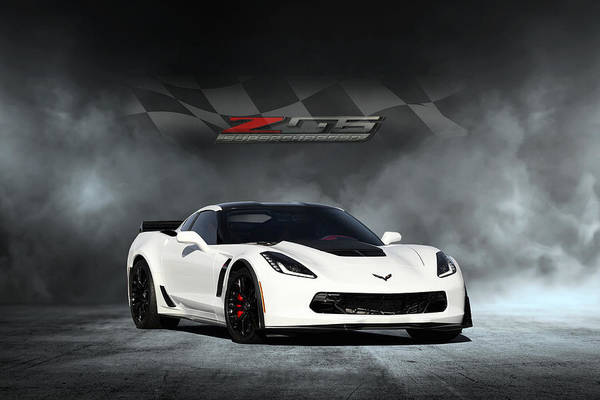 Wall Art - Digital Art - Arctic White Z06 by Peter Chilelli