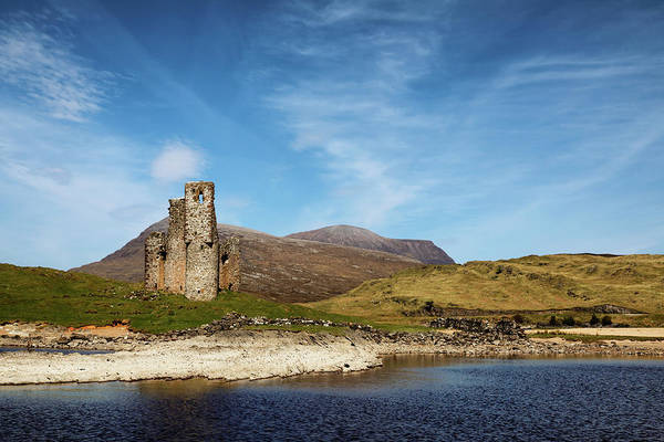 Photograph - Ardvreck Castle And Loch Assynt by Nicholas Blackwell