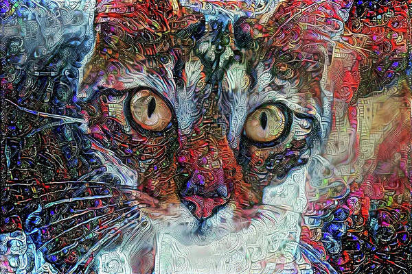 Mixed Media - Are You Looking At Me by Peggy Collins