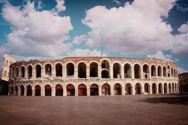 Wall Art - Photograph - Arena Of Verona Italy  by Carol Japp