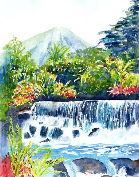 Painting - Arenal Volcano Costa Rica  by Carlin Blahnik CarlinArtWatercolor