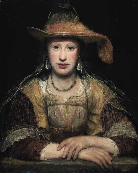 Wall Art - Painting - Arent De Gelder - Portrait Of An Unknown Woman  C.1685  by Celestial Images