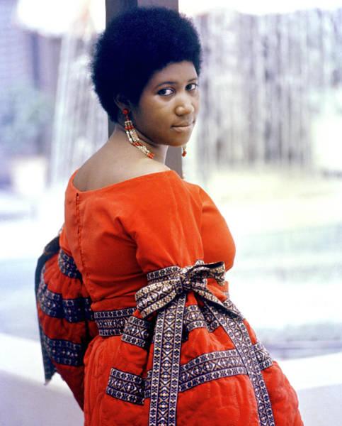 Photograph - Aretha Franklin Color Portrait by Michael Ochs Archives