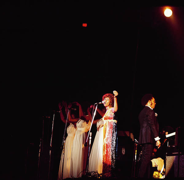 Photograph - Aretha Franklin Performs At Newport by David Redfern