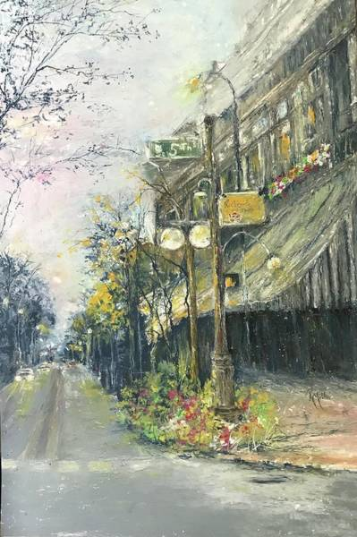 Painting - Argenta This Is Not Alices Restaurant by Robin Miller-Bookhout