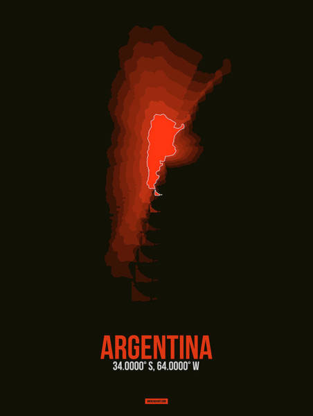Eames Wall Art - Digital Art - Argentina Radiant Map 3 by Naxart Studio