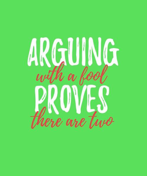 Arguing Art Print