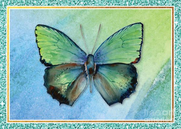 Painting - Arhopala Aurea Butterfly by Amy Kirkpatrick