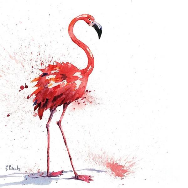 Wall Art - Painting - Arianna Flamingo I by Paul Brent
