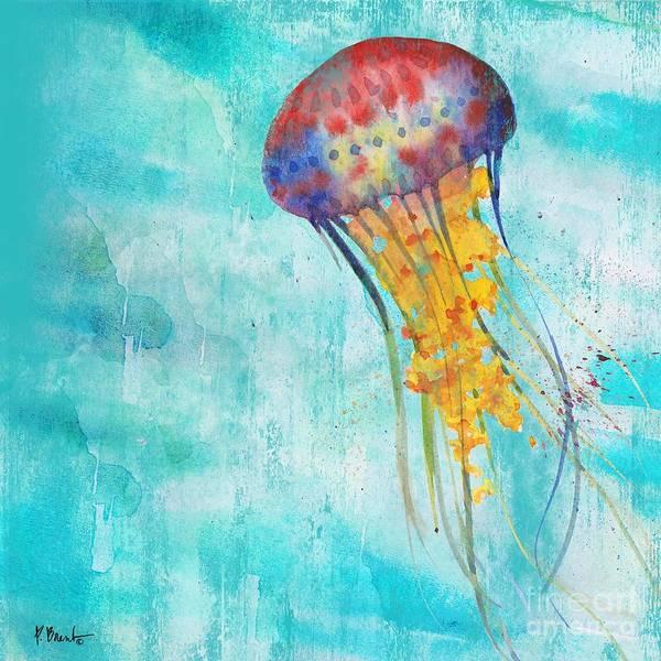 Jellyfish Painting - Arianna Jellyfish I by Paul Brent