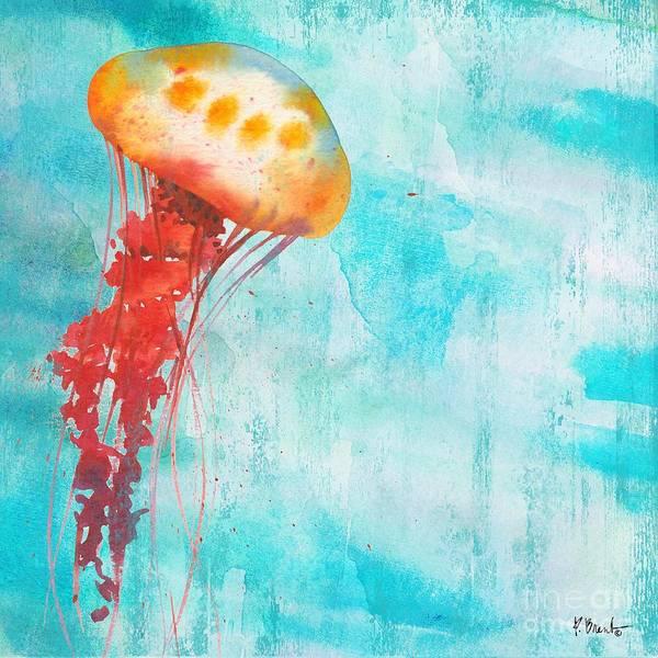 Jellyfish Painting - Arianna Jellyfish II by Paul Brent