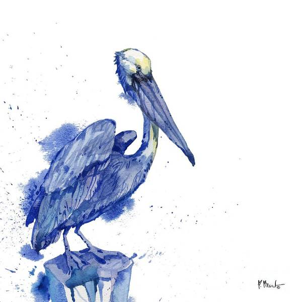 Pelican Wall Art - Painting - Arianna Pelican - White by Paul Brent
