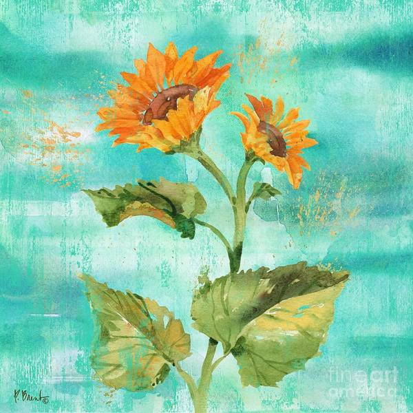 Wall Art - Painting - Arianna Sunflowers II by Paul Brent