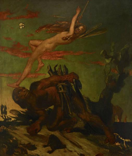Wall Art - Painting - Ariel And Caliban, 1837 by David Scott