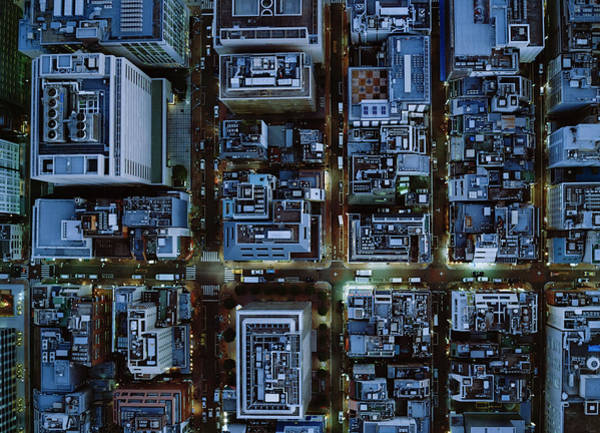 Ginza Wall Art - Photograph - Ariel View Of Ginza, Tokyo At Night by Michael H