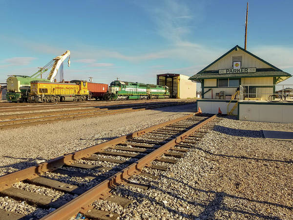 Photograph - Arizona And California Railroad Headquarters And Engine Yard by Jamie Baldwin