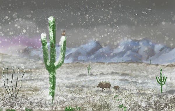 Digital Art - Arizona Blizzard by Chance Kafka